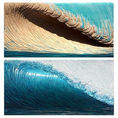 Wood Sculpture, Sculptures, Wave Art, Surf Art, Weird Art, Ocean Art, Texture Art, Figure Drawing, Wood Carving