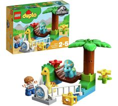 Buy LEGO DUPLO: Gentle Giants Petting Zoo at Mighty Ape NZ. See the baby dinosaurs at the Jurassic World Gentle Giants Petting Zoo! Little dinosaur fans will love to create endless role-play adventures as they. Lego Jurassic World, Giant Dinosaur, Dinosaur Party, Lego Duplo Sets, Le Zoo, Baby Dinosaurs, Buy Lego, Lego Lego, Gentle Giant