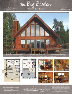 Wonderful Concepts to make your beautiful log cabin in the mountains or next to a river. A necessity to escape from our fast pace life. Cabin Plans With Loft, A Frame House Plans, Cabin Loft, House Plan With Loft, Cabin House Plans, Family House Plans, Log Cabin Homes, Small House Plans, House Floor Plans