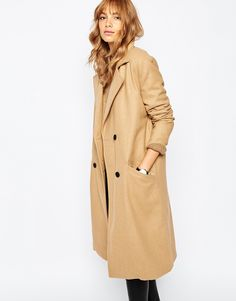 Vila Longline Double Breasted Coat