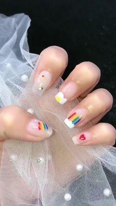 Nail Art Designs Videos, Nail Art Videos, Simple Nail Art Designs, Gel Nail Designs, Tape Nail Art, Nail Pen, Dot Nail Art, Bling Acrylic Nails, Best Acrylic Nails