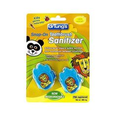 Kids Snap-On Toothbrush Sanitizer: What a FUN WAY to keep kids' toothbrushes hygienic!. Toothbrushes harbor a host of harmful bacteria that can re-infect your mouth when you brush. Our Kids Snap-On Toothbrush Sanitizer is a REVOLUTIONARY product that releases all-natural, anti-bacterial vapors to kill germs and safely sanitize children's toothbrush between brushings.  No mess, no fuss, dry vapor action * Fits most kids' manual and power brushes. No Batteries needed.
