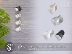 by SIMcredibledesigns.com  Found in TSR Category 'Sims 4 Wall Lamps'