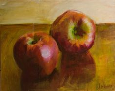 apples by Ioanna Nannou, 2011, acrylic on canvas, 0,80 X 100, private collection