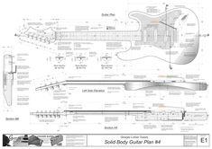 Strat Neck Blueprint http://building-guitarproject