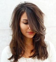 Hairstyles For Medium Layered Hair With Side Bangs