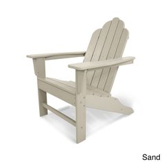 Long Island Polywood Adirondack Chair (White), Size Single, Patio Furniture  (Plastic) | Polywood Adirondack Chairs, Free Delivery And Products