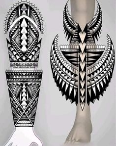 Tiki Tattoo, Maori Tattoo Arm, Tribal Hand Tattoos, Geometric Sleeve Tattoo, Polynesian Tribal Tattoos, Wolf Tattoo Sleeve, Maori Tattoo Designs, Black Ink Tattoos, Leg Tattoos