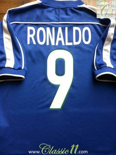 Relive Ronaldo s 1998 World Cup with this vintage Nike Brazil away shirt.  Classic11 Football Shirts 99a2a8226