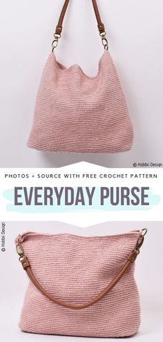 Crochet bags purses 481814860135044134 - Everyday Crochet Handbags Free Patterns – Free Crochet Patterns Source by Crochet Pattern Free, Free Crochet Bag, Crochet Market Bag, Bag Pattern Free, Crochet Motifs, Crochet Tote, Crochet Handbags, Crochet Purses, Crochet Patterns