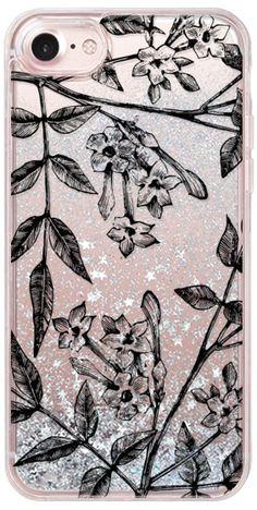 Casetify iPhone 7 Glitter Case - Botanical Jasmine by Jande Laulu #Casetify