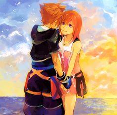 Such a beautiful artwork of Sora and Kairi, I love it! ^_^ <3
