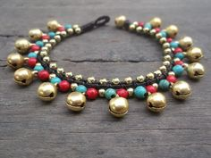 A personal favorite from my Etsy shop https://www.etsy.com/listing/95483207/new-turquoise-red-coral-bead-gold-brass
