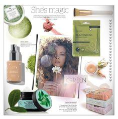 """Magic Green Tea"" by imurzilkina ❤ liked on Polyvore featuring beauty, Nicole, Mistral, Beautycounter, Fuji, Sir/Madam, Eve Lom and GreenTeaBeauty"