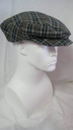 Plaid Driving Cap.