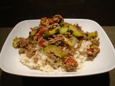 Beef & Zucchini with Brown Rice