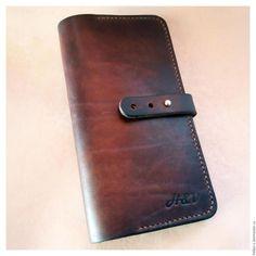"""Купить Портмоне - бумажник из натуральной кожи """"Burbon"""" - коричневый, портмоне, портмоне из кожи, портмоне мужское"""