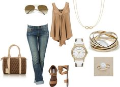Tan, Brown and White, created by rhiannedbutler on Polyvore