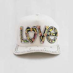 The Love Me Princess Trucker Cap Crystal Beads, Crystals, Complete Outfits, My Princess, Rainbow Colors, Luxury Fashion, Girl Fashion, Baseball Hats, Handmade Jewelry