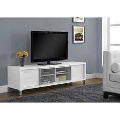 Manhattan fort Lincoln TV Stand 2 4 with Silicon Casters by