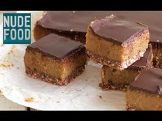 Healthy Date Cashew Caramel Chocolate Slice