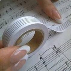 Sheet music whiteout tape! Don't you wish you had thought of this?