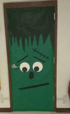 Frankenstein door & Frankenstein door decoration | Halloween | Pinterest | Frankenstein ...