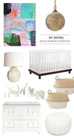 Art inspired baby nursery