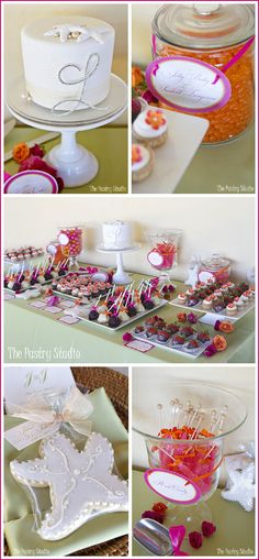 Beach Party Theme Star Fish Cookie to place around cake. Half Baked – The Cake Blog » Real Party: Beach Side Wedding