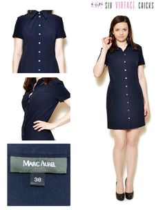 9419e9134827 shirt dress women retro mini vintage blue minimalist 90s clothing sexy  gifts bohemian clothing cocktail short sleeve button down dress M by  SixVintageChicks ...