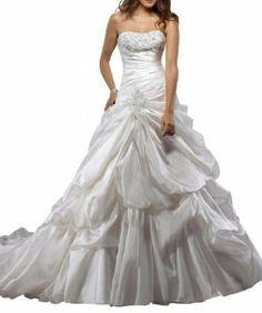 Rosa Bridal Women's Strapless Beading Ball Gown
