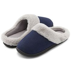 4c58f577aa8 HomeIdeas Women s Woolen Fabric Memory Foam Anti-Slip House Slippers Autumn     fashion  clothing  shoes  accessories  mensshoes  slippers (ebay link)