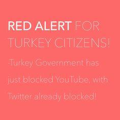 TURKEY HAS BLOCKED YOUTUBE! READ MORE AT: http://saintmasternews.blogspot.com/2014/03/turkey-blocks-youtube.html