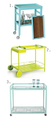 Colour Drinks Carts.