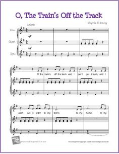 O' The Train's Off the Track | Free Sheet Music Orff Orchestration/ website makingmusicfun.net