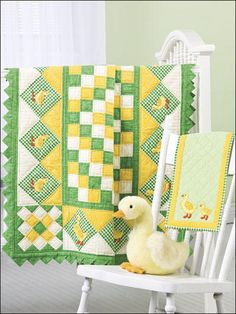 duck baby quilt - cute idea for someone who chooses not to find out ahead of time.