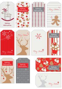 Święta na kraftsach: Free Printables. Etykiety prezentowe do pobrania! | Kreatywny Świat Lescilsa