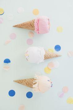 Bolsitas de regalo para fiestas infantiles #craft #kids #niños #helado