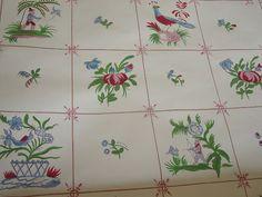 Vtg Triple Roll Brunschwig Fils Vieux Strasbourg Handprint Wallpaper | eBay