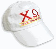 Chi Omega Line Hat-Newest SALE $18.95. - Greek Clothing and Merchandise - Greek Gear®