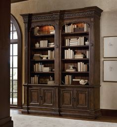Hooker Furniture Adagio Double Bookcase without ladder and rail 5091-10226