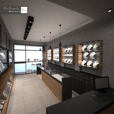 A small jewellery store in the center of the city with minimal style Jewellery Shop Design, Jewellery Showroom, Showroom Interior Design, Jewelry Stores, Jewelry Shop, Fine Jewelry, Store Interiors, Luxury Closet, Minimal Style
