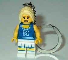 "KEY CHAIN Lego Series 1 8683 /""CHEERLEADER/"" NEW Genuine Legos Handmade"
