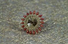 """Zlatý prsteň """"Golden Eye"""" s rokajlom Golden Eyes, Brooch, Jewelry, Jewlery, Jewerly, Brooches, Schmuck, Jewels, Jewelery"""