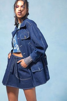 3322f91534ac2d Anna Sui   Urban Outfitters Bring 90 s Vibes to New Collaboration. Longline Denim  JacketAndrogynous ...