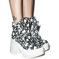 Maria Ke Fisherman X Buffalo Digital Love Boots ($575) ❤ liked on Polyvore featuring shoes, kohl shoes, black shoes, light weight shoes, high heel platform shoes and black high heel shoes