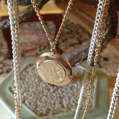 """Vintage locket necklace Gorgeous 4 layer chains gold tone start 20"""" to 34"""" long Jewelry Necklaces"""