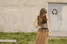 Geometric Fringed Crop Top DIY by Sincerely Kinsey >>> — Roots and FeathersRoots and Feathers Blog