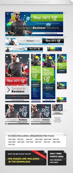 Energic Web Banners Template PSD   Buy and Download: http://graphicriver.net/item/energic-web-banners/4669342?WT.ac=category_thumb&WT.z_author=Emil_J&ref=ksioks