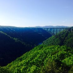 A hike that ends in with this view is worth every step. Long Point. #visitwv